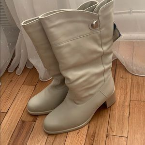 Rare Vintage New leather/fur boots made in Finland